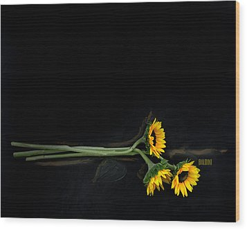 Master Sunflowers Wood Print by J R Baldini M Photog
