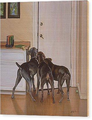 Master's Home Wood Print by Barbara Walker