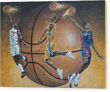 Masters Of The Game Wood Print by Billy Leslie