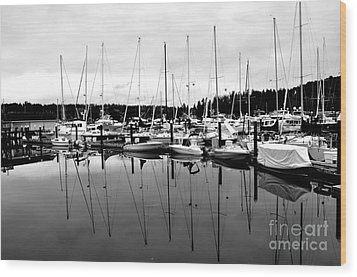 Masts Over And Under Wood Print by Tanya  Searcy