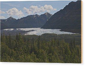 Matanuska Glacier Wood Print