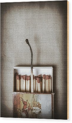 Matches Wood Print by Joana Kruse