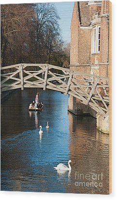 Mathematical Bridge Wood Print by Andrew  Michael