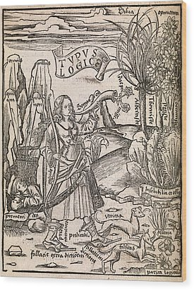 Mathematical Logic, 1503 Wood Print by Middle Temple Library
