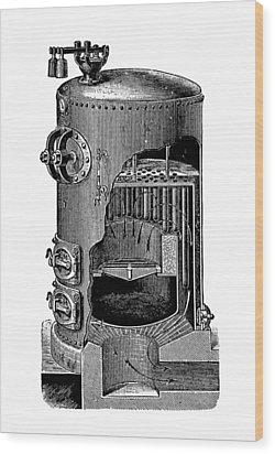 Mathian Steam Boiler Wood Print by Mark Sykes