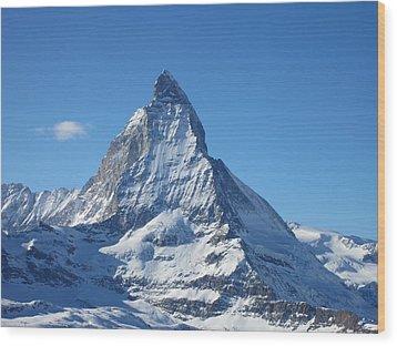 Matterhorn Wood Print by Dion Halliday