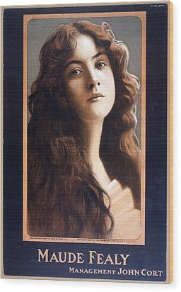 Maude Fealy 1881-1971, American Wood Print by Everett