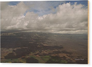 Maui Beneath The Clouds Wood Print by Paulette B Wright