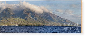 Maui Pano Wood Print by Scott Pellegrin