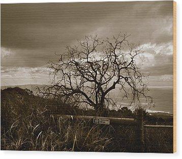 Maui Storm Wood Print