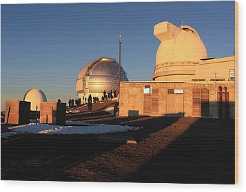 Wood Print featuring the photograph Mauna Kea Observatories by Scott Rackers