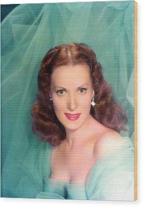 Maureen Ohara, 1940s Wood Print by Everett
