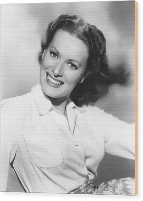 Maureen Ohara, Paramount Pictures, 1950 Wood Print by Everett