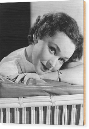 Maureen Osullivan, Ca 1950 Wood Print by Everett