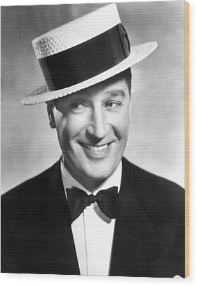 Maurice Chevalier, 1930s Wood Print by Everett