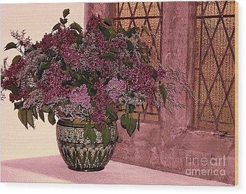 Mauve Bouquet Wood Print