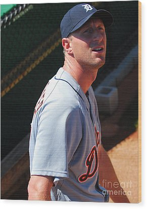 Max Scherzer Wood Print by Carol Christopher
