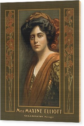 Maxine Elliott 1868-1940 An Actress Wood Print by Everett