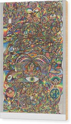 Maya Creation Wood Print by Jonathan DiNo DiNapoli