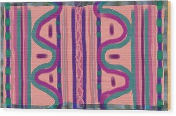 Maya Wood Print by Rosana Ortiz