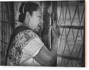 Maya Woman Wood Print by Andrew Xenios