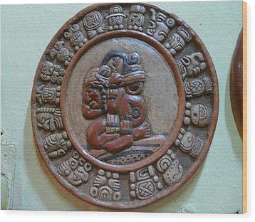Mayan Art 2012 Wood Print by Juan Francisco Zeledon