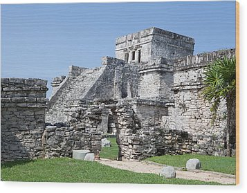 Mayan Ruins Wood Print by Monica and Michael Sweet