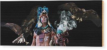 Mayan Spirit Wood Print by Elizabeth Hart