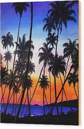 Mayaro Red Dawn Wood Print by Karin  Dawn Kelshall- Best