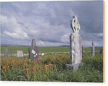 Mayo Cemetery Wood Print