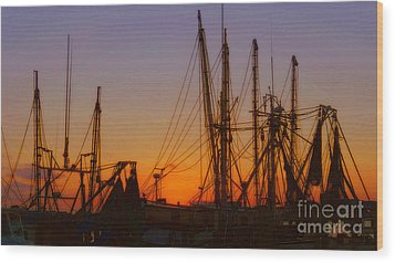 Mayport Wood Print by Lydia Holly