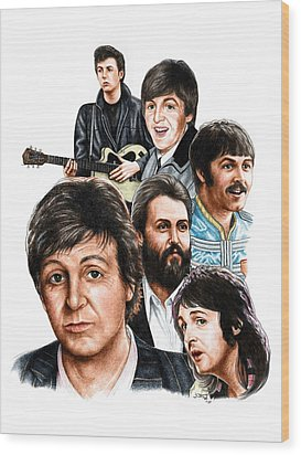 Mccartney - Heart Of The Band  Wood Print by Jonathan W Brown