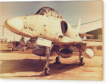 Mcdonnell Douglas Ta-4j Skyhawk Aircraft Fighter Plane . 7d11198 Wood Print by Wingsdomain Art and Photography