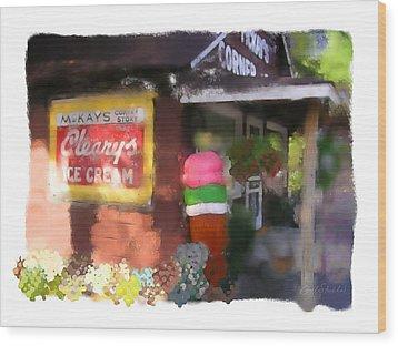 Mckays Corner Store Wood Print