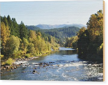 Wood Print featuring the photograph Mckenzie River  by Mindy Bench