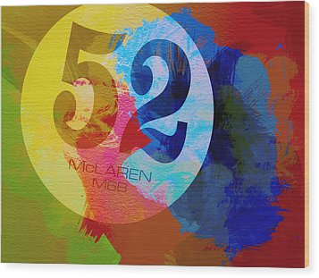 Mclaren Watercolor Wood Print by Naxart Studio