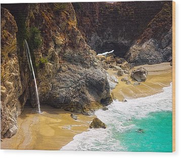 Mcway Falls California Wood Print by Utah Images
