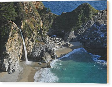 Wood Print featuring the photograph Mcway Falls by Lynn Bauer