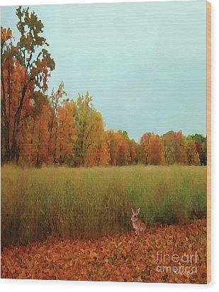 Wood Print featuring the digital art Meadow by David Klaboe