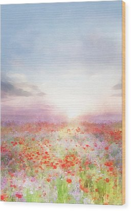 Meadow Flowers Wood Print by Francesa Miller