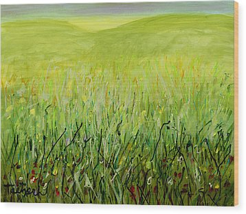 Meadow Four Wood Print