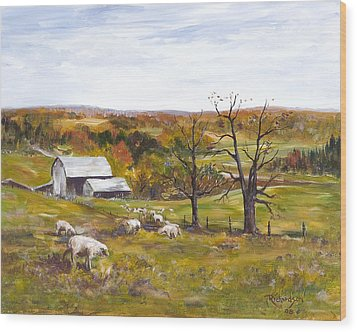 Wood Print featuring the painting Meadow Life by George Richardson