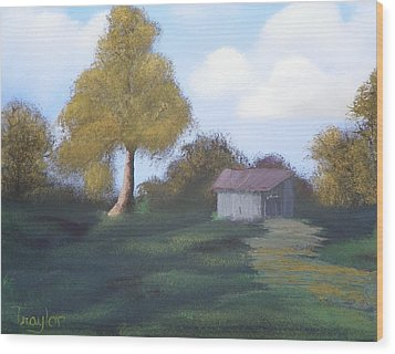 Meadow's Edge Wood Print by Amity Traylor