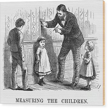 Measuring Children, 1876 Wood Print by Granger