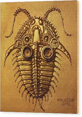 Mecha-trilobite 3 Wood Print by Baron Dixon