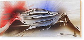 Mechanical Emotions Flow Wood Print by Rahul Rathore