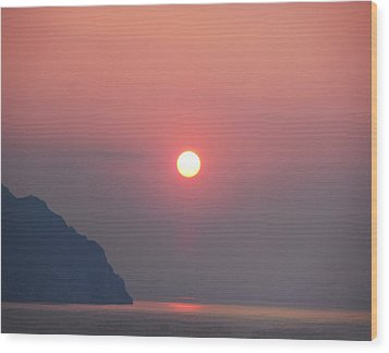 Medaterainian Sunset Wood Print by Bill Cannon