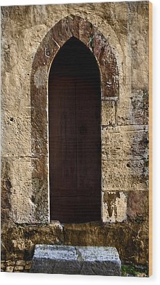 Medieval Welcome Wood Print by Cecil Fuselier