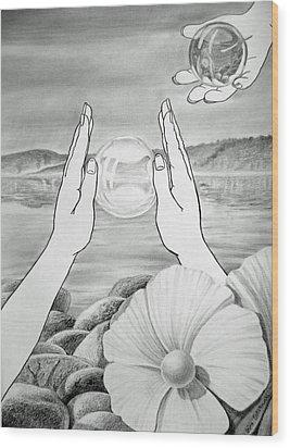 Meditation  Wood Print by Irina Sztukowski