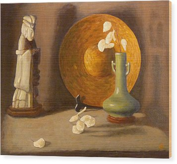 Wood Print featuring the painting Meditation by Joe Bergholm